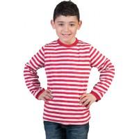 Espa majica na crte, crveno-bijela