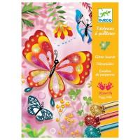 Djeco okrasi metulje z bleščicami