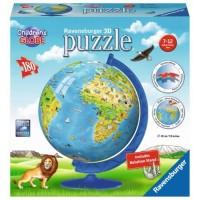 Puzzleball otroški globus 180 delna 3D sestavljanka