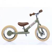 Trybike poganjalec s tremi kolesi 2v1 vintage zelen