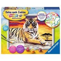 Ravensburger barvanje po številih tiger