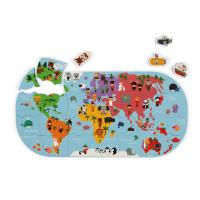 Janod zemljevid sveta za kopel