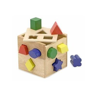 Lesena kocka z oblikami