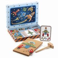 Djeco Igra s kladivom Sestavimo Vesoljsko ladjo
