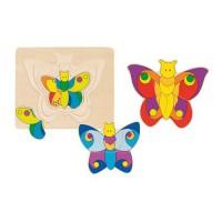 Goki nivojska sestavljanka metuljček, 11 kosov